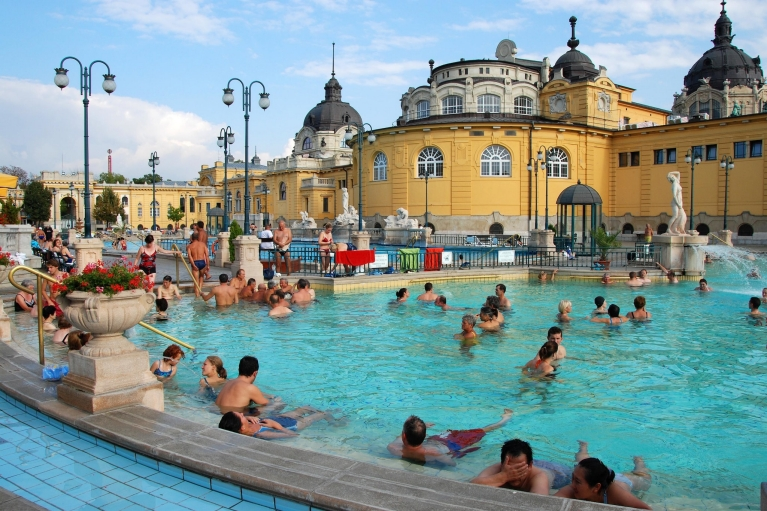 The Szechenyi thermal bath Budapest, Hungary