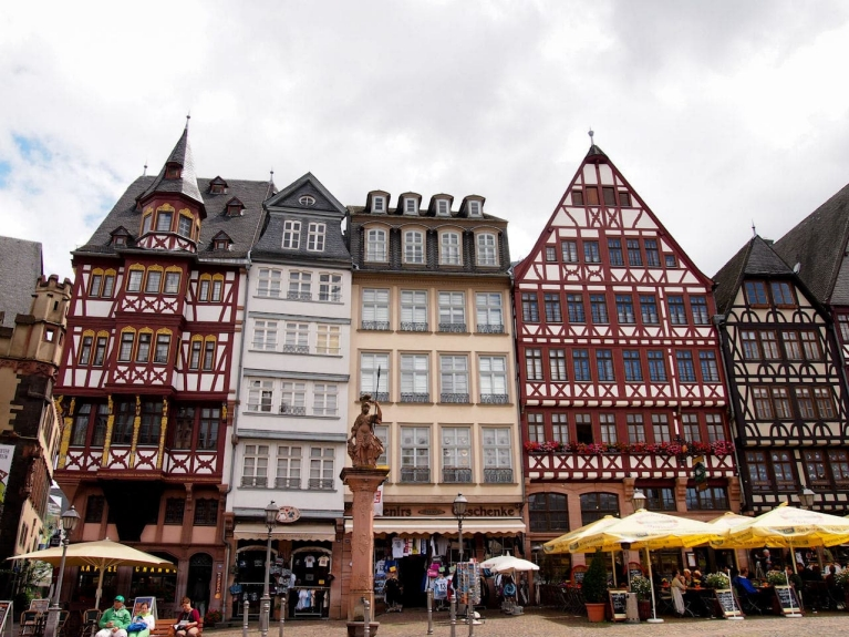 Main square in Frankfurt