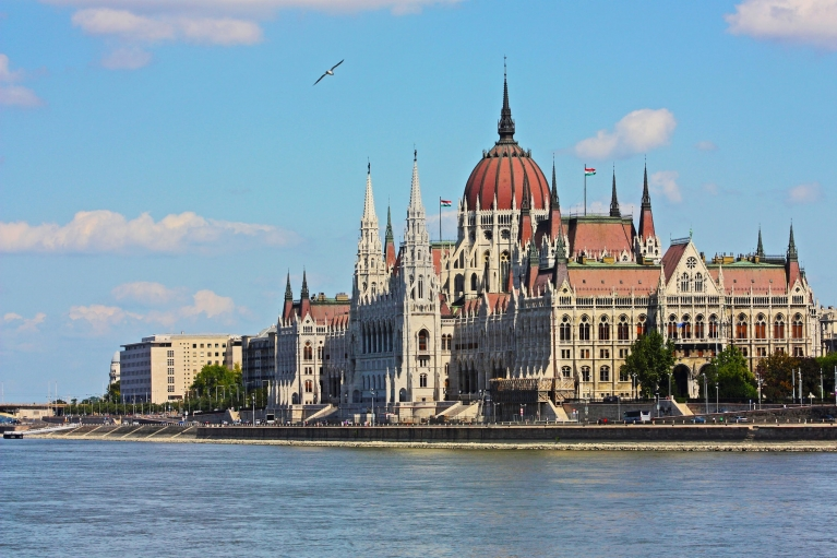 The Hungarian Parliament in Budapest Hungary