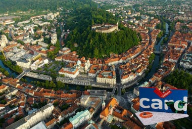 Pass Benefit | Aerial view of Ljubljana landscape with the Ljubljana City Card