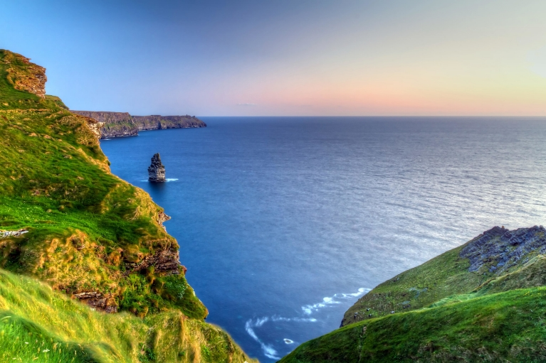 Cliffs of Moher at dusk in County Clare, Ireland