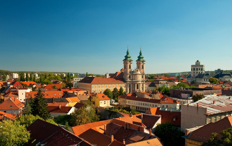 The medieval town of Eger, Hungary