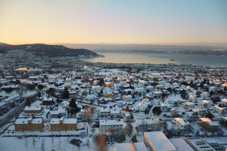 Trondheim at sunset